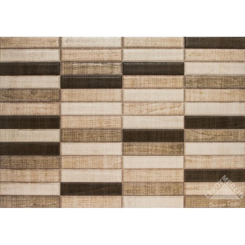 Плитка настенная Relieve Cuenco Marron, 31,6x45,2 см, 1,57 м2