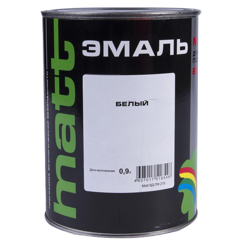 Эмаль ВД-ПФ 215 МАТТ цвет белый 0.9 л