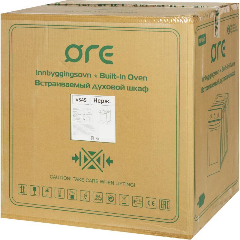 Духовой шкаф электрический ORE VS45, 45x59x56.5 см, нержавеющая сталь