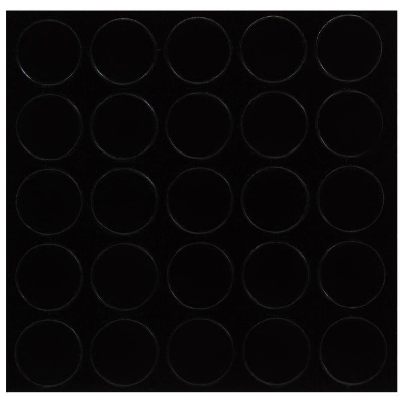 Заглушка самоклеящаяся 14 мм меламин цвет черный, 25 шт.
