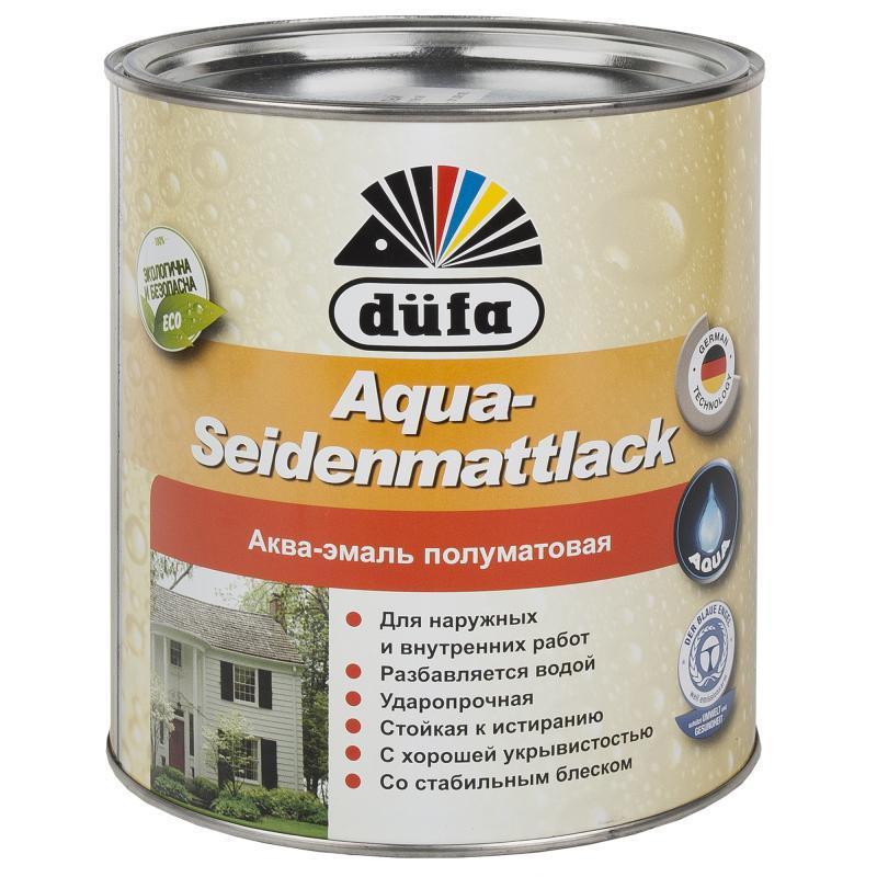 Эмаль Dufa Aqua-Seidenmattlack цвет белый 2.5 л