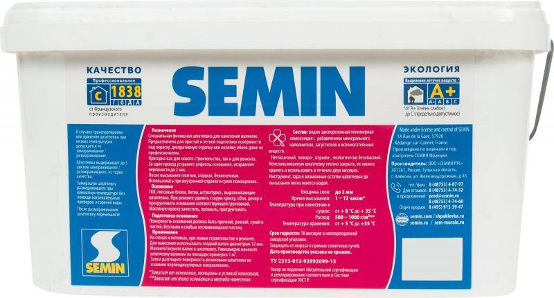 Шпаклёвка для нанесения валиком Semin 8 кг