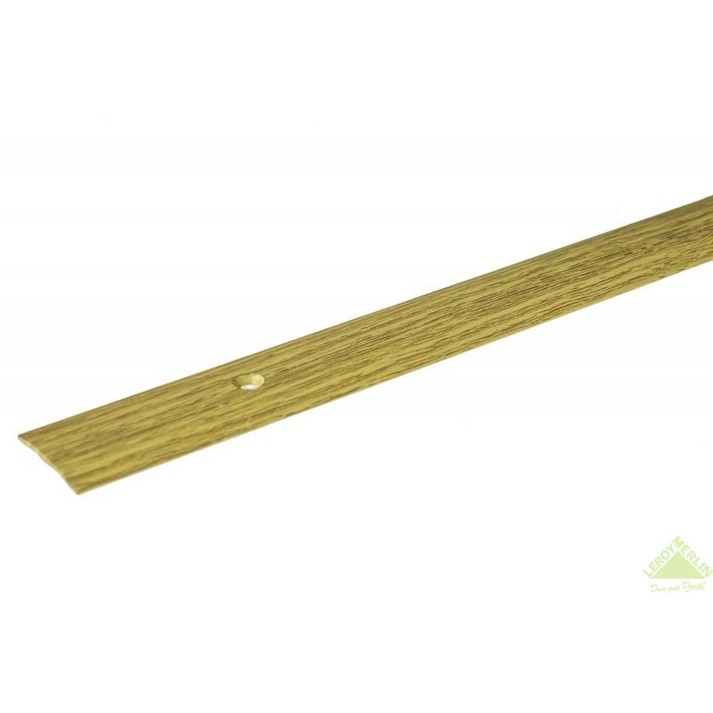 Порог алюминиевый Стык-163 дуб, 1000x28 мм