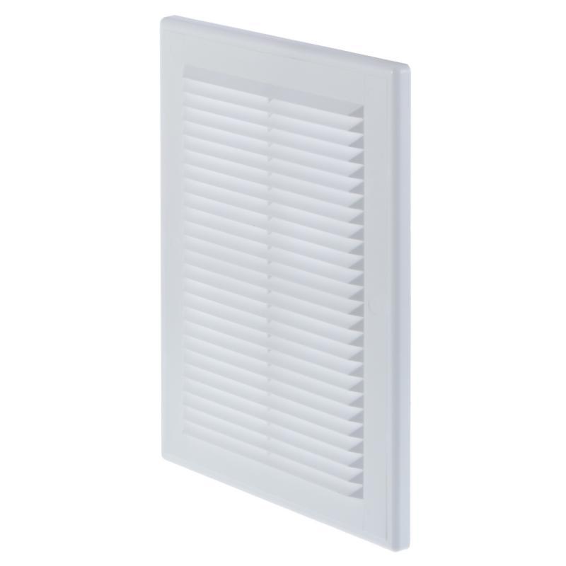 Решетка вентиляционная Вентс МВ 125 ВДс, 182x251 мм, цвет белый