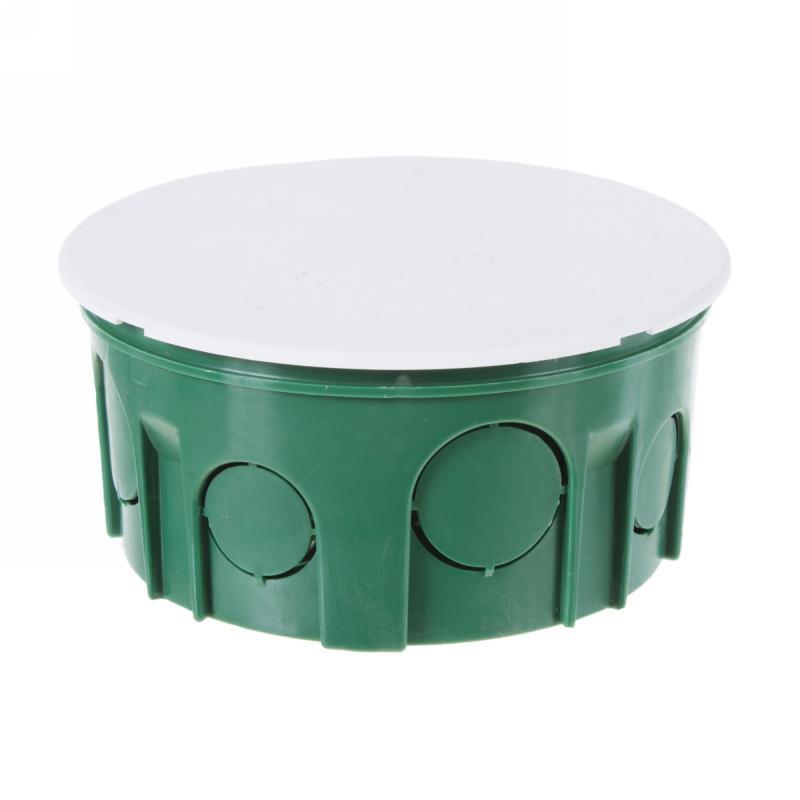 Коробка распределительная круглая Schneider Electric 100x50 мм цвет зёленый