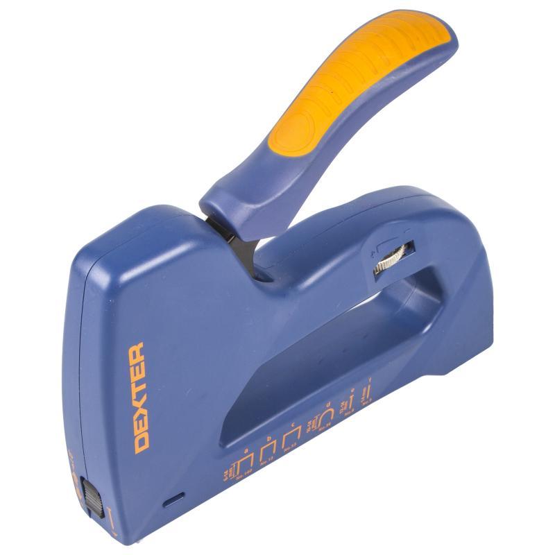 Степлер ручной 6 в 1 Dexter под скобы 53-140-36/гвозди 8-9 мм