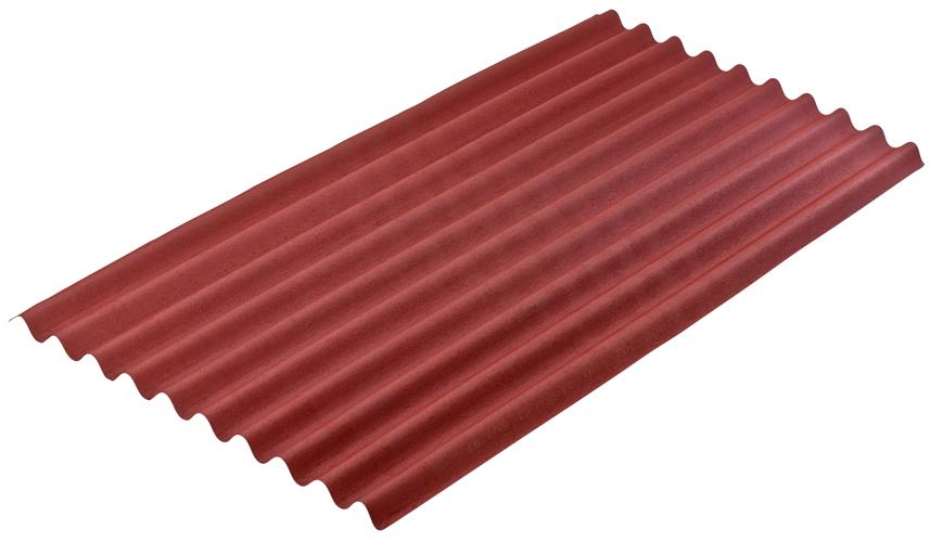 Лист Ондулин 6x950x2000, красный
