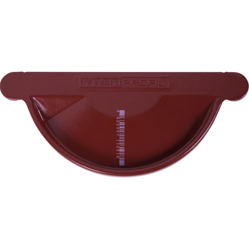 Заглушка желоба левая/правая цвет красный