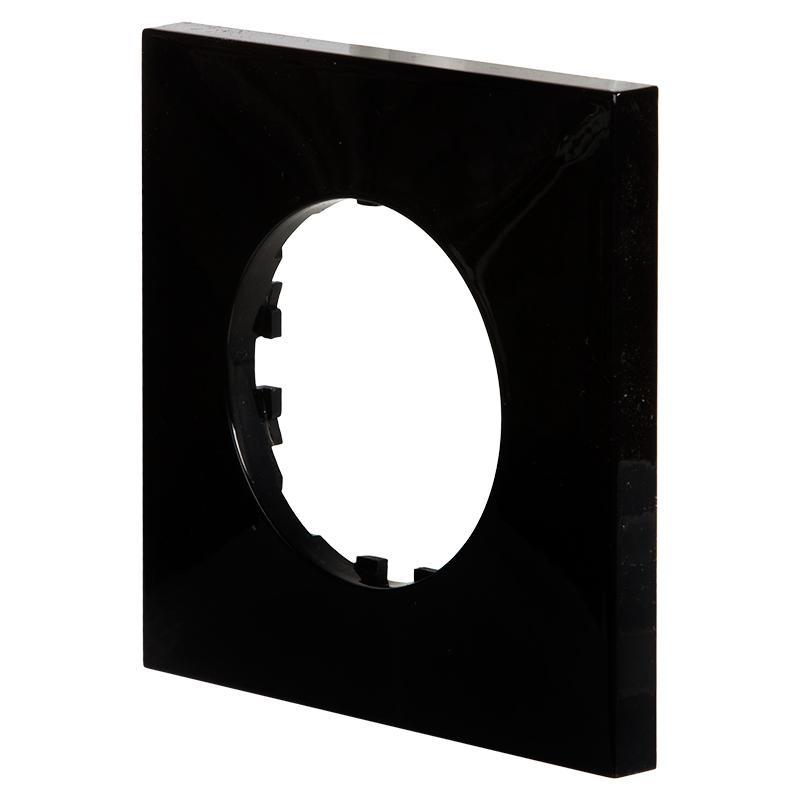 Рамка LK Vintage-Quadro 1 пост квадратная, черная