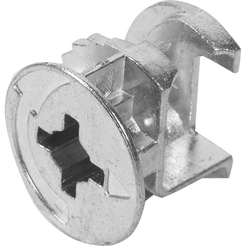 Стяжка мебельная эксцентриковая 18-20 мм, металл, цвет хром, 8 шт.