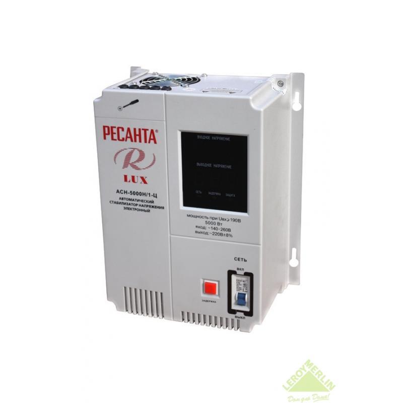 Стабилизатор напряжения настенный Ресанта 5 кВт