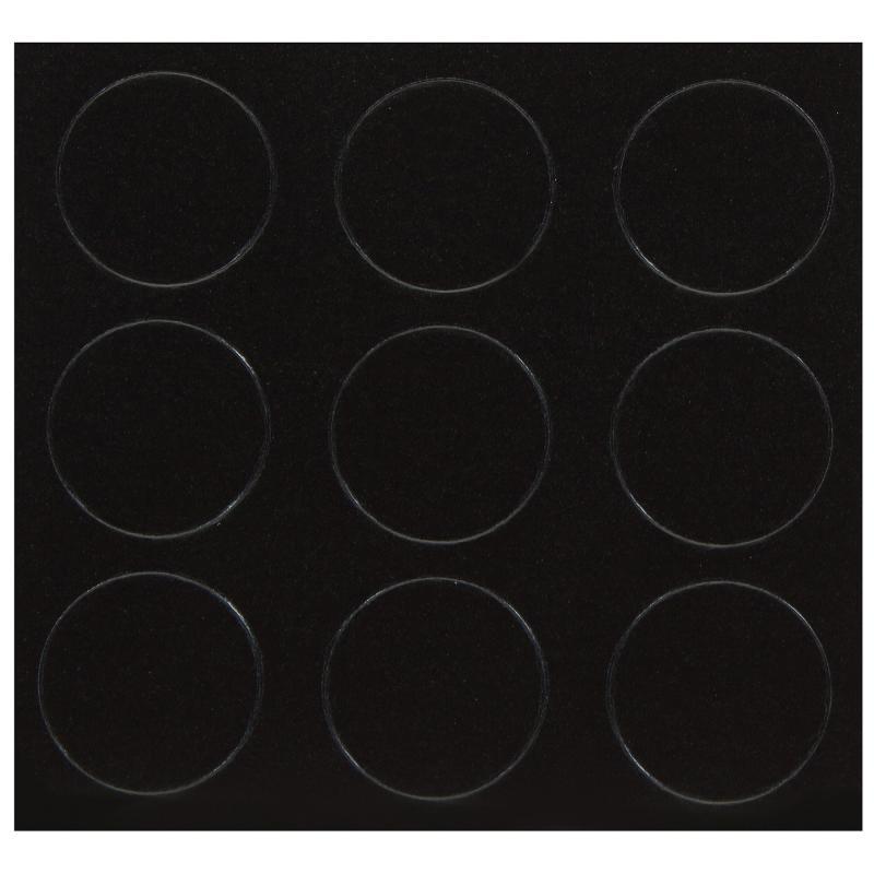 Заглушка самоклеящаяся 18 мм меламин цвет черный, 21 шт.