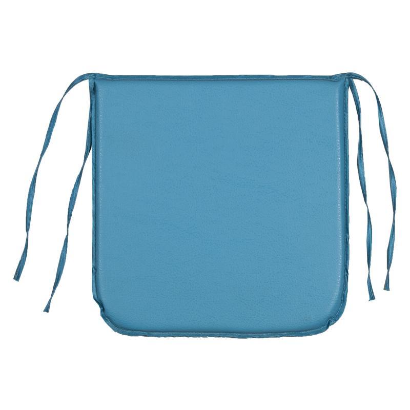 Подушка декоративная для стула «Дача» 35х35 см цвет голубый