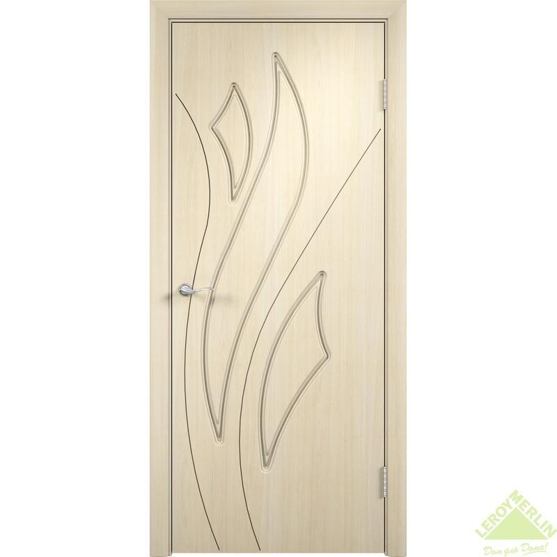 Дверное полотно глухое Латина 60x200 см, ПВХ, белёный дуб