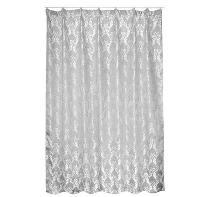Штора на ленте «Вавена» 200х260 см цвет серый