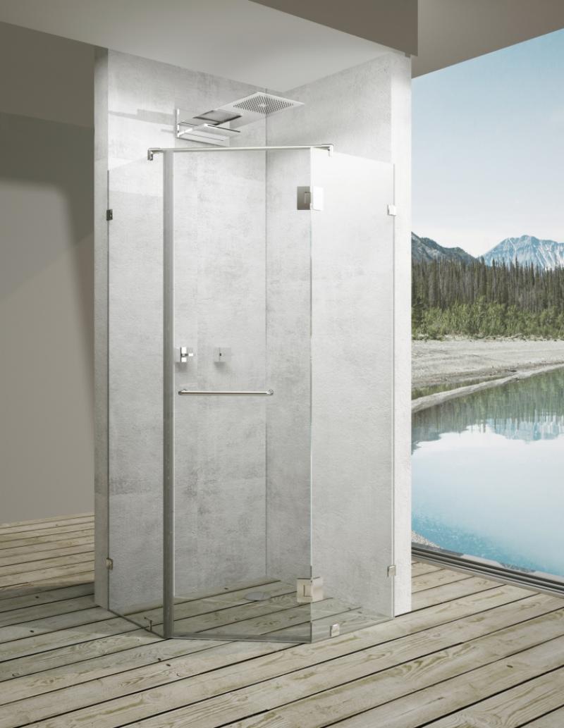 Дверь душевая «Астра» пентагональная 90х90 см