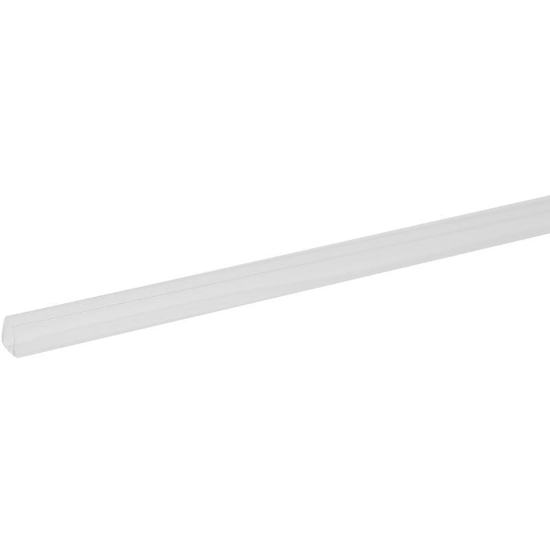 Профиль торцевой П-образный для стеновой панели, 60х0.4 см, пластик