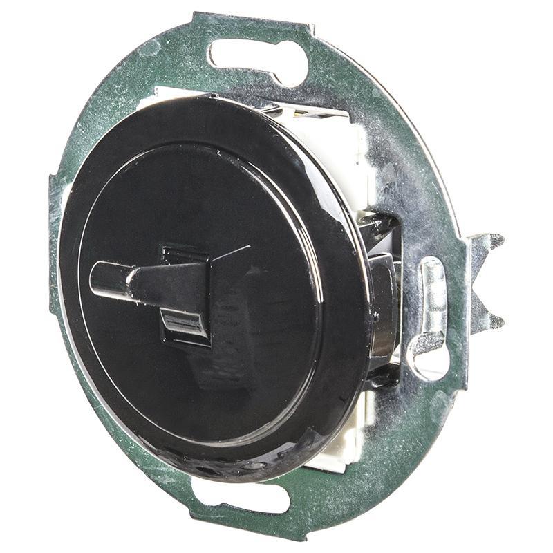 Переключатель LK Vintage 1-рычажковый на 2 направления 250B, черный