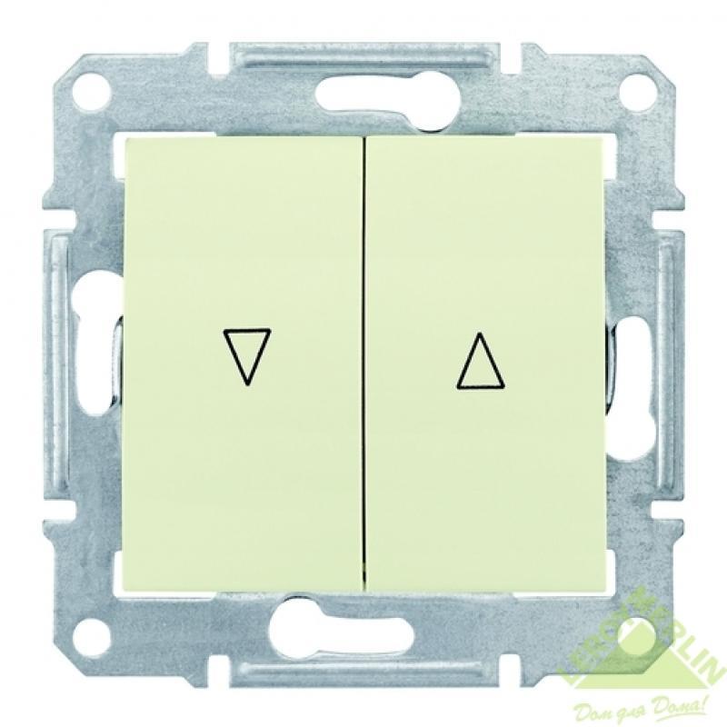 Выключатель Sedna, для жалюзи, механический блок, бежевый