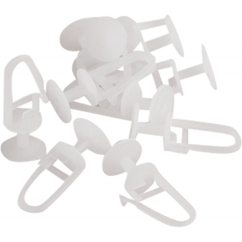 Крючки для пластикового карниза «ЭКА» пластик