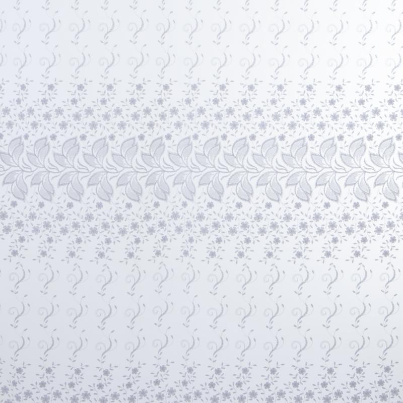 Тюль с вышивкой на сетке «Цветы» 1 п/м 290 см цвет белый