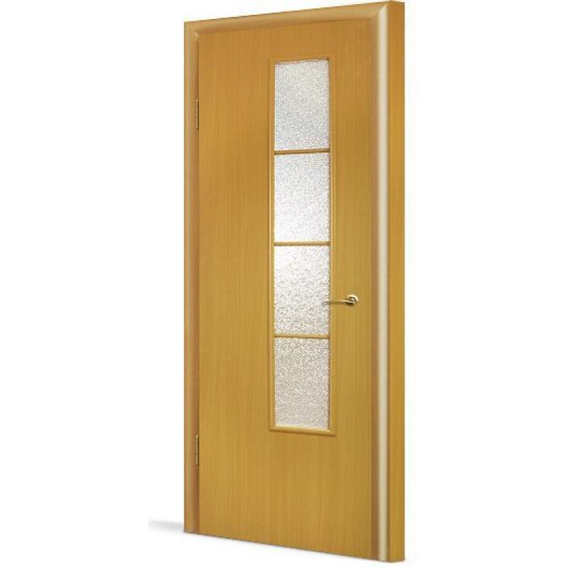 Полотно дверное остекленное с четвертью, 800 мм, орех