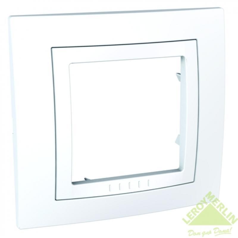 Рамка Schneider Electric Unica, 1 пост, цвет белый
