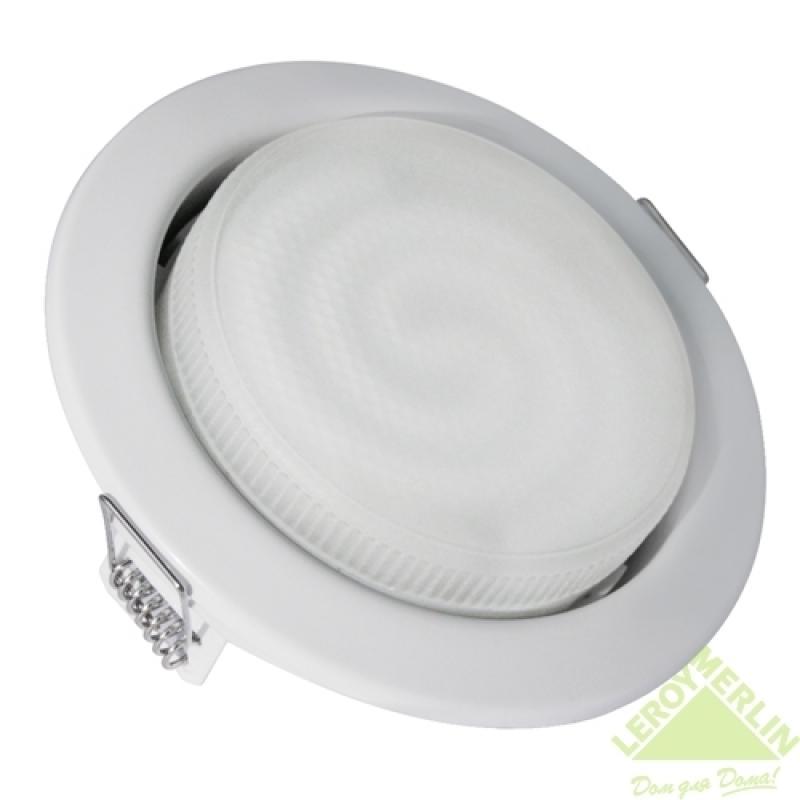 Спот встраиваемый Карина энергосберегающий GX53х12Вт белый
