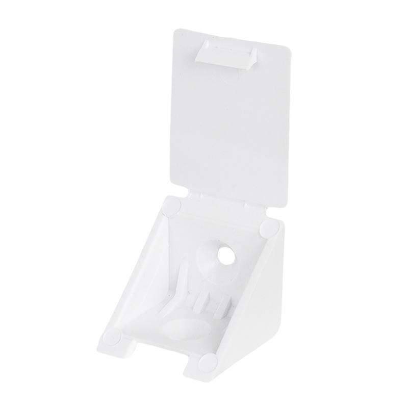 Уголок монтажный 25 мм, пластик, цвет белый, 8 шт.