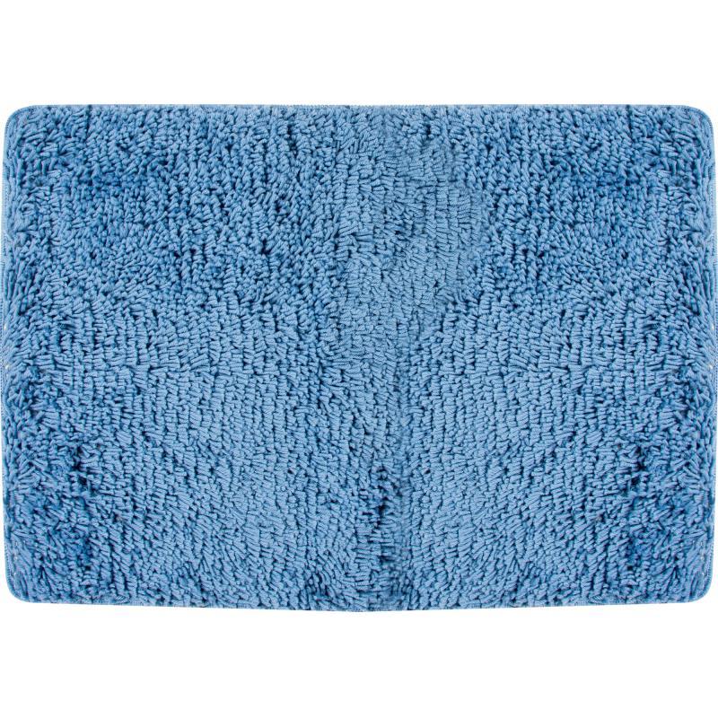 Коврик для ванной комнаты «Shaggy» 70х100 см цвет голубой