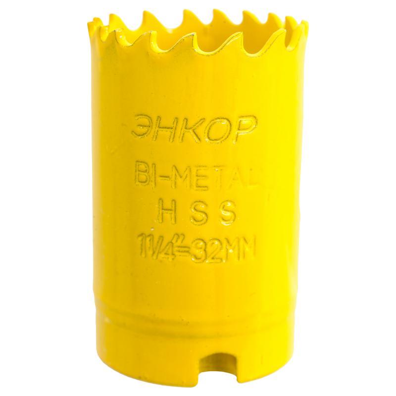 Коронка для металла Энкор Bi-Metall, D32 мм