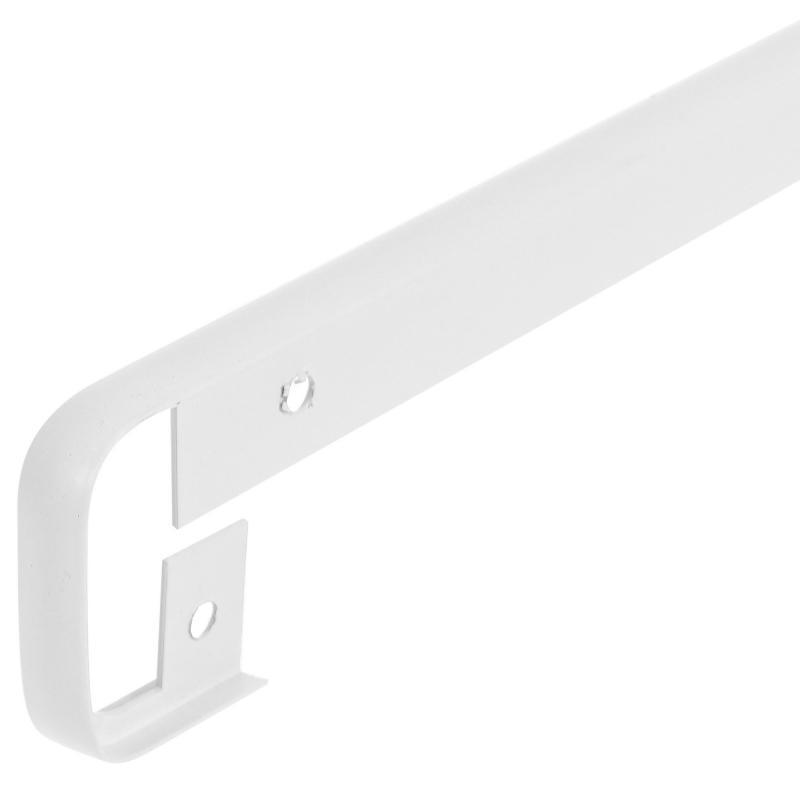 Планка для столешницы соединительная, 38 мм, металл, цвет белый матовый