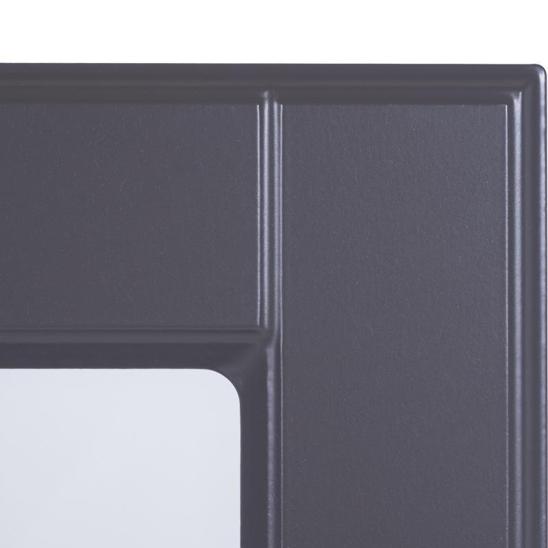 Витрина для шкафа Delinia «Леда серая» 60x35 см, МДФ, цвет серый