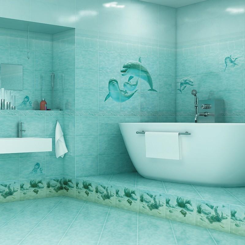 Декор Лагуна Дельфин, 24,9х36,4 см