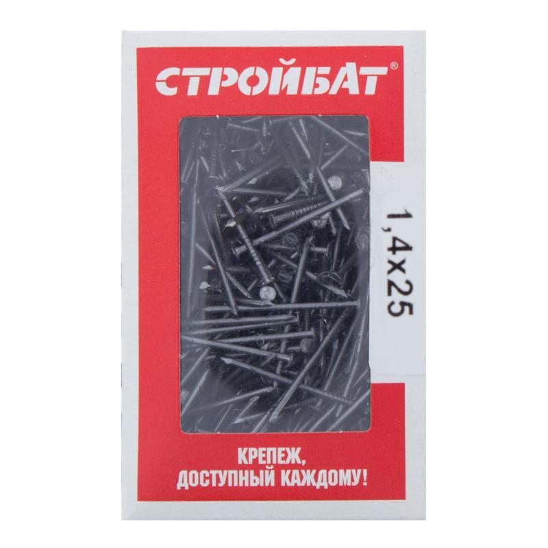 Гвозди строительные 1.4х25 мм, 0.2 кг
