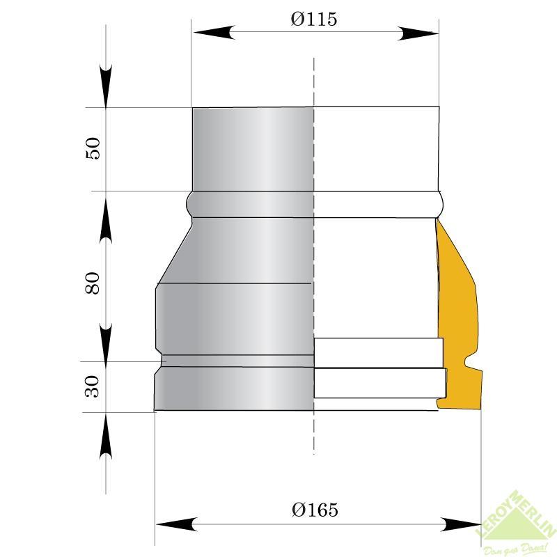 Насадка нижняя Мета, 165 мм