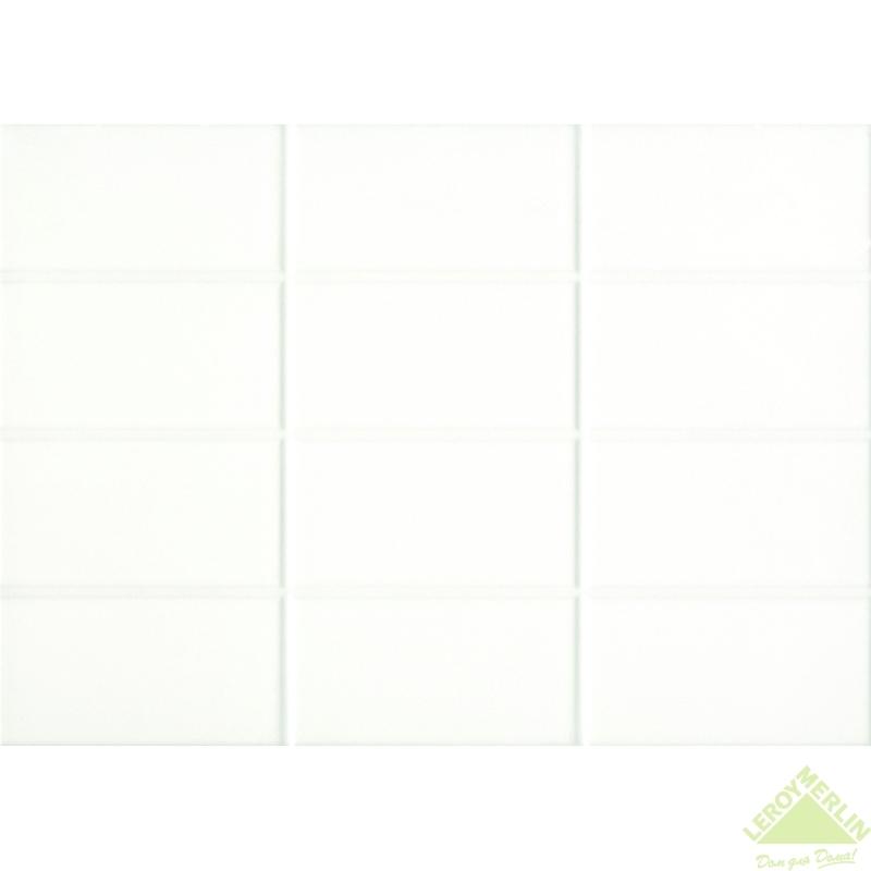 Плитка настенная Mono, цвет белый, 25x35 см, 1,4 м2