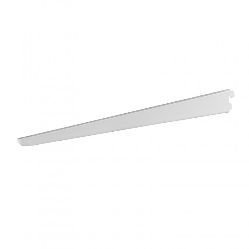 Кронштейн прямой двухрядный 47 см нагрузка до 30 кг цвет белый