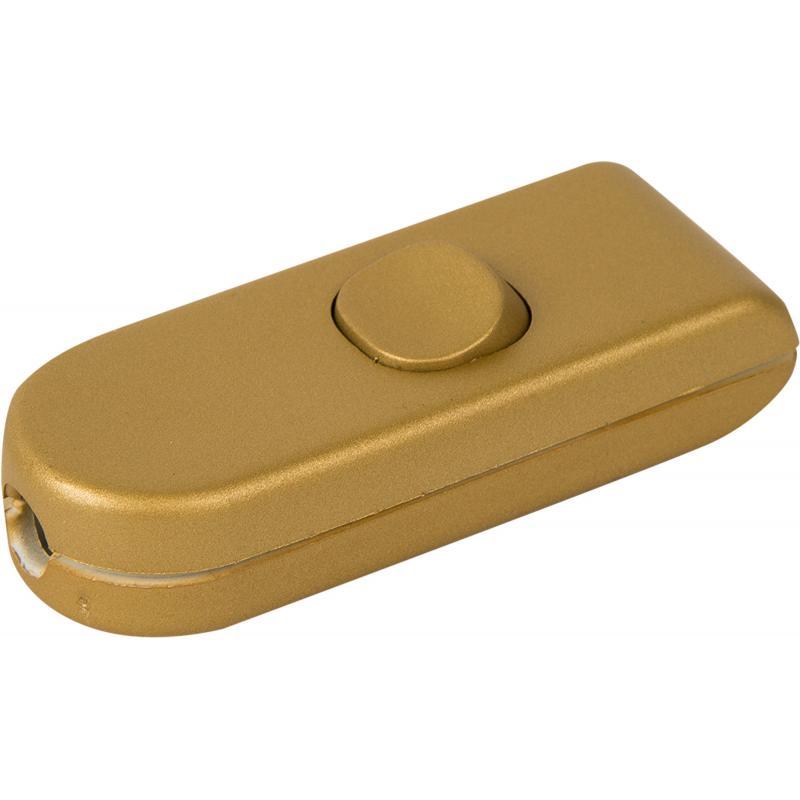 Выключатель проходной золотой 10 А, 220 В