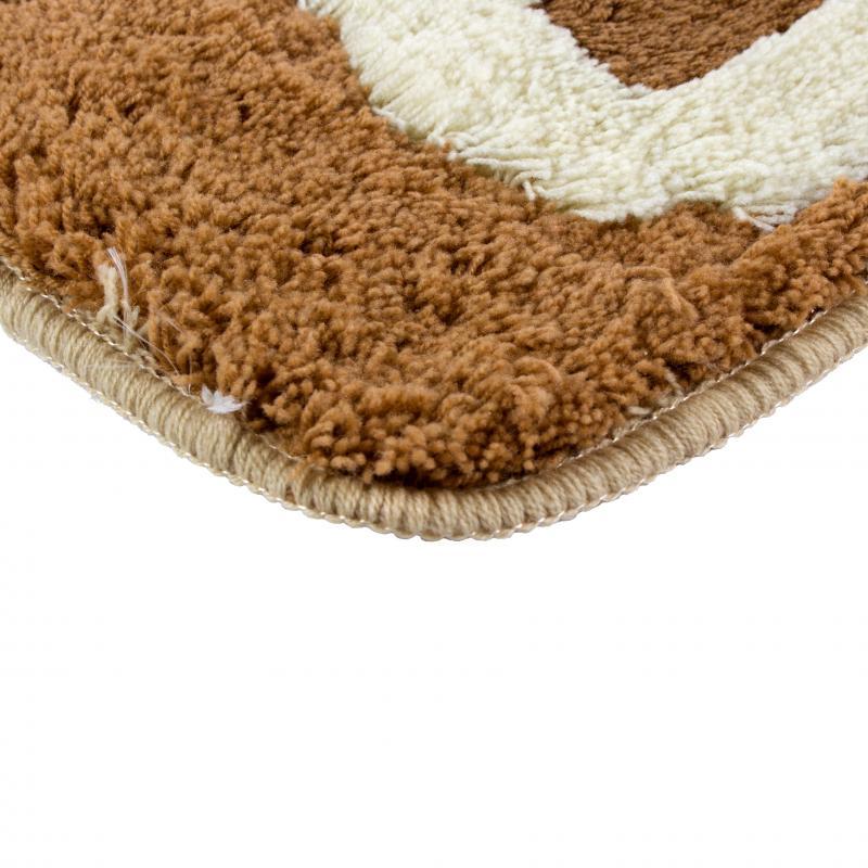Коврик для ванной комнаты «Сафари» 60х90 см цвет коричневый
