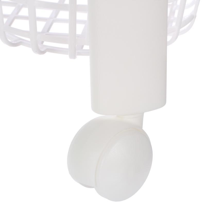 Стеллаж для ванной комнаты «Евро», на колёсах трехъярусный цвет белый