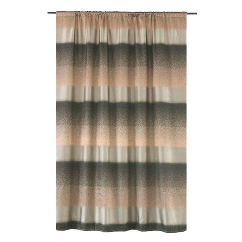 Штора на ленте «Манфредо» 200х260 см цвет серо-коричневый