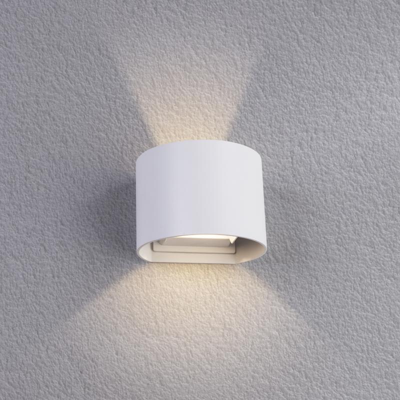 Настенный светильник уличный светодиодное «RulOv», 6 Вт, IP54, цвет белый металлик