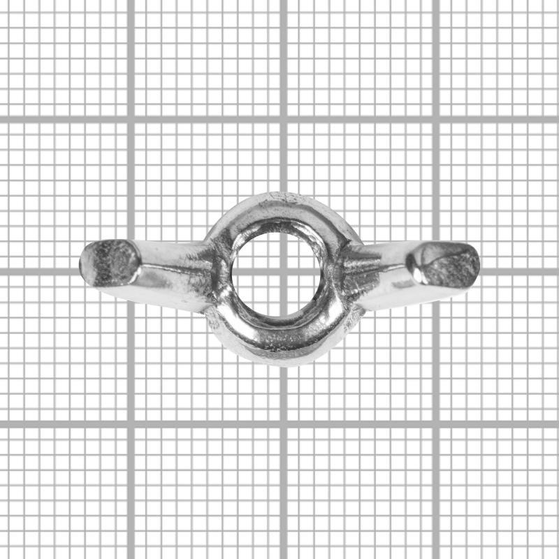 Гайка барашковая М6, DIN 315, нержавеющая сталь, 10 шт.