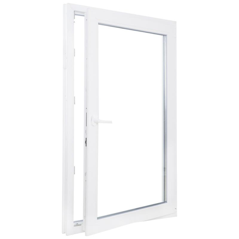 Окно ПВХ одностворчатое 90х60 см поворотно-откидное правое