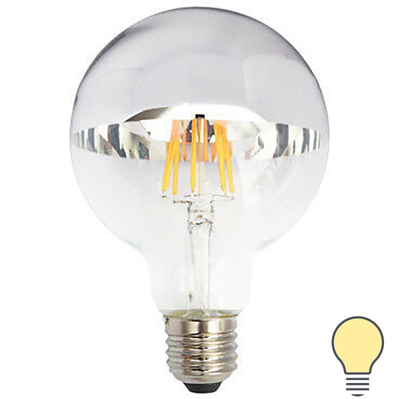 Лампа светодиодная Eglo E27 230 В 6 Вт шар 720 лм, тёплый белый свет