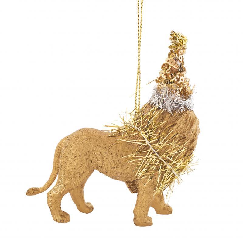 Украшение ёлочное «Лев нарядный», 9 см