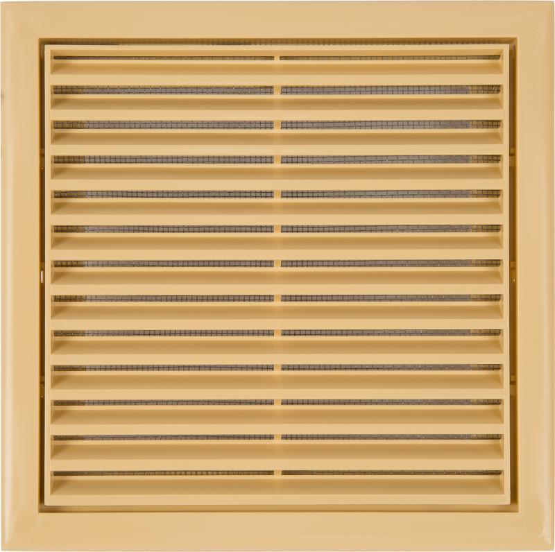 Решетка вентиляционная Вентс МВ 120 с, 186x186 мм, цвет бежевый