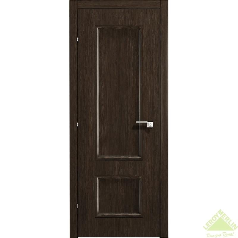 Дверь межкомнатная глухая 5001 КД 21-8 с фурнитурой, черный дуб