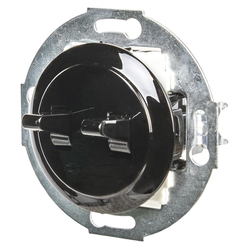 Выключатель LK Vintage 2-рычажковый 250B, черный